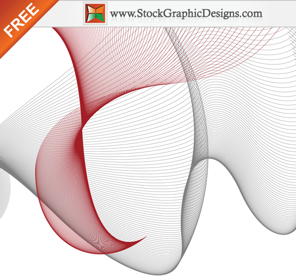 free vector Flowing Curves Free Vector Designs