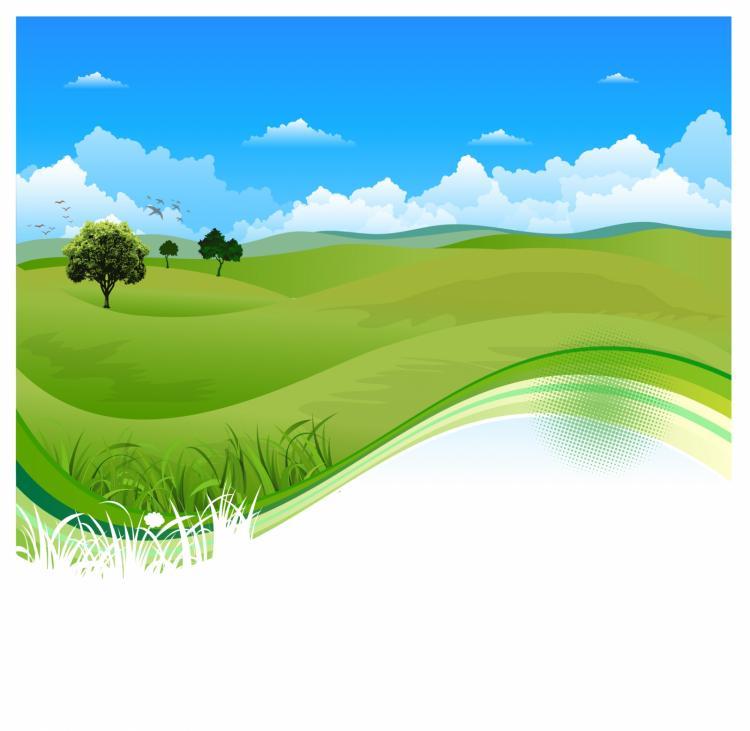 free vector Flowing green field