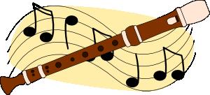 free vector Flute Music clip art