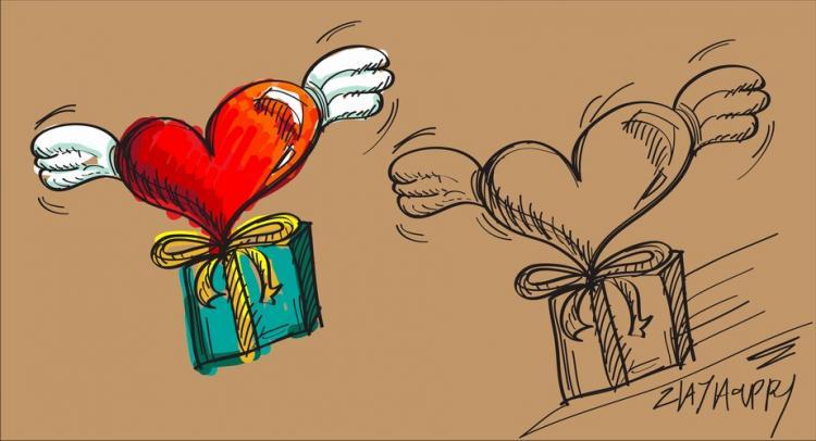 free vector Fluttering heart