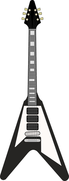 ... -flying-v-guitar-clip-art_114132_Flying_V_Guitar_clip_art_hight.png