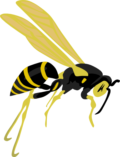 free vector Flying Wasp clip art