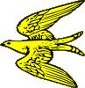 free vector Flying Yellow Bird clip art