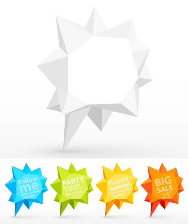 free vector Fold dialog 04 vector