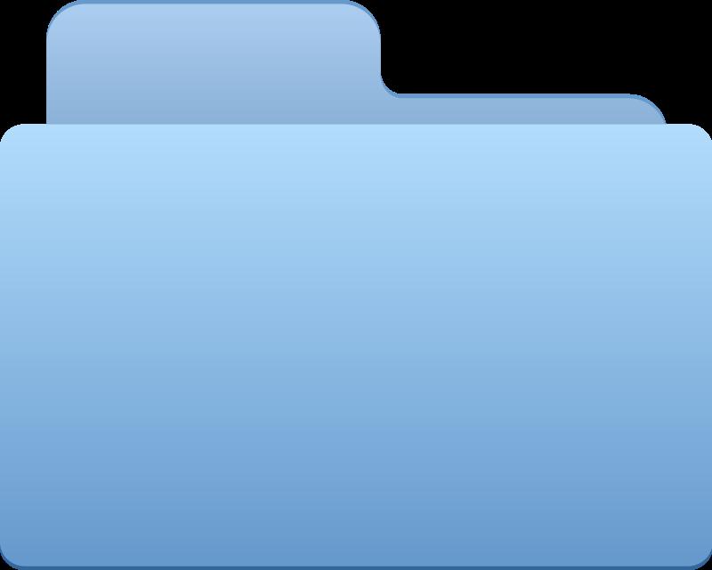 free vector Folder - blue