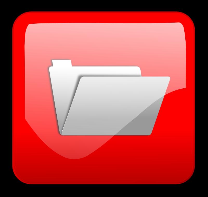 free vector Folder Button