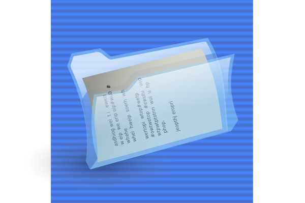 free vector Folder With File Icon clip art