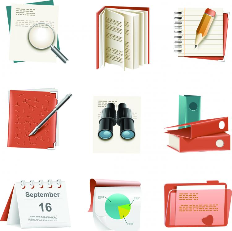 free vector Folders and Paperwork Vector Icons