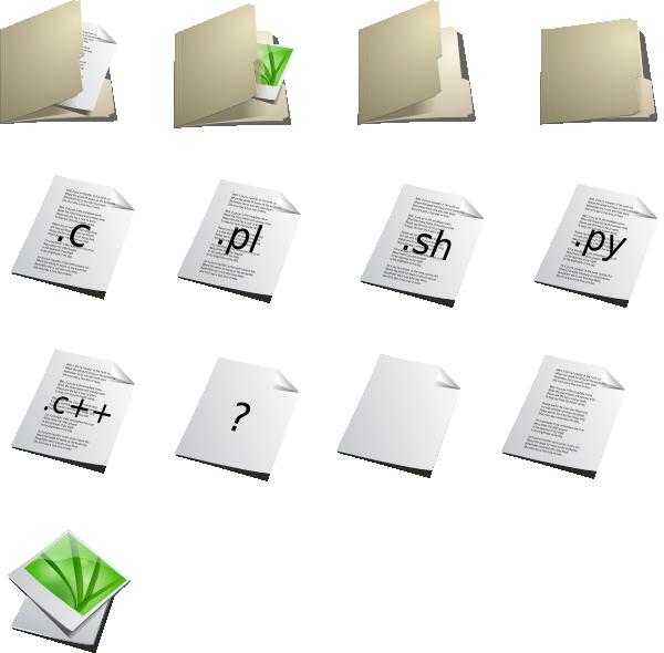free vector Folders Icons clip art