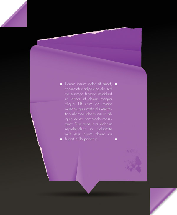 free vector Folds of paper vector