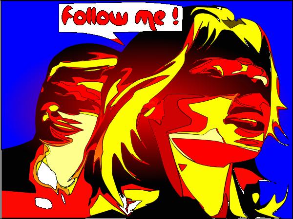 free vector Follow Me clip art