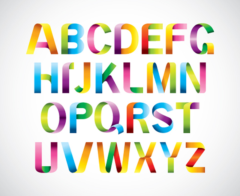 free vector Font design series 39 vector