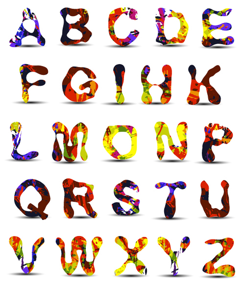 free vector Font design series 41 vector