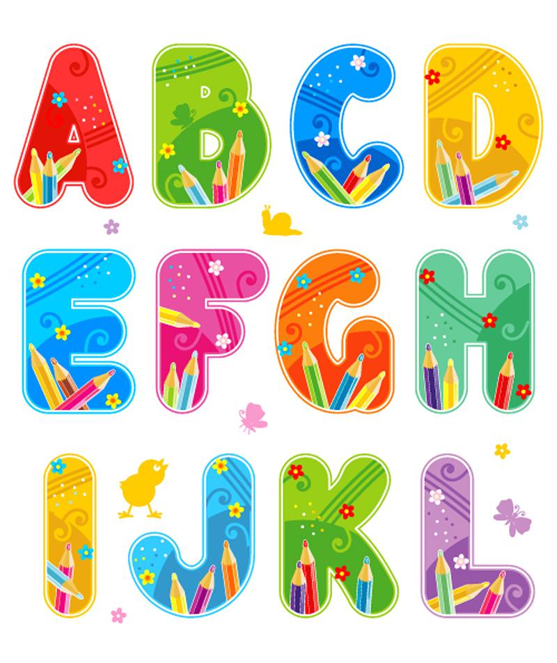 free vector Font design series 44 vector
