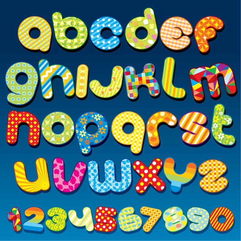free vector Font design series 55 vector