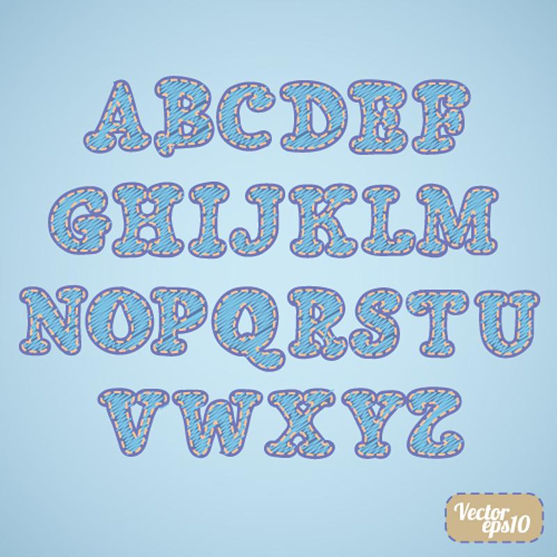 free vector Font design series 58 vector