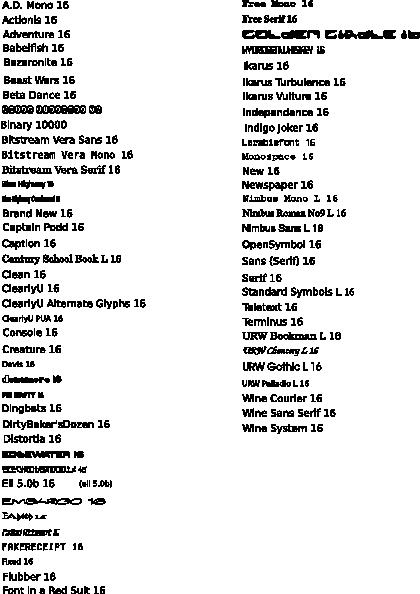 free vector Font Samples clip art