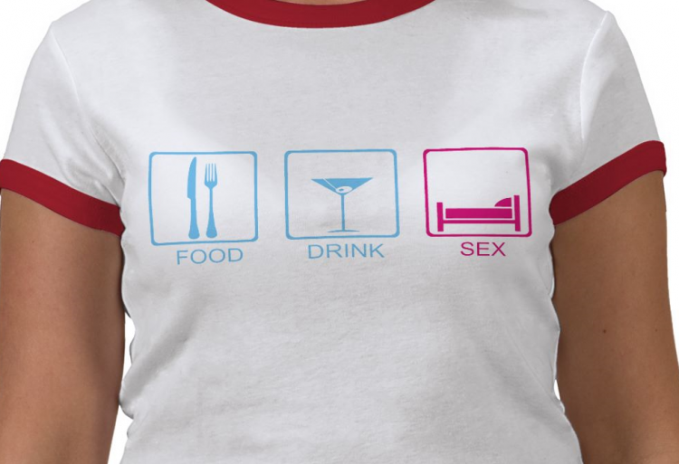 free vector Food, drink, sex Funny T-Shirt