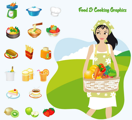 free vector Food Icons