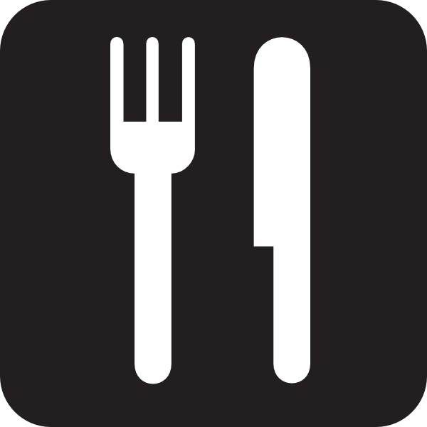 free vector Food Service Black clip art