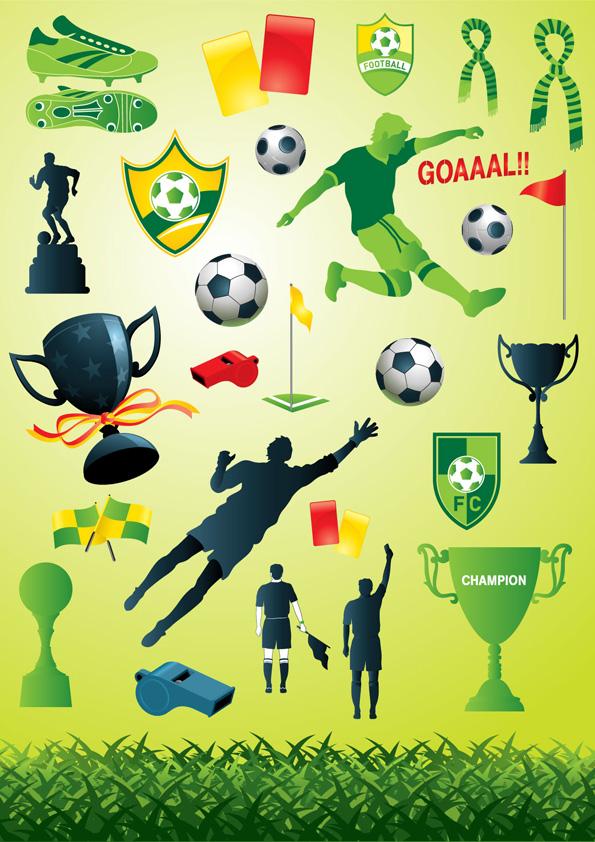 free vector Football theme vector