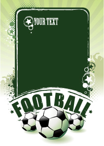 free vector Football theme vector