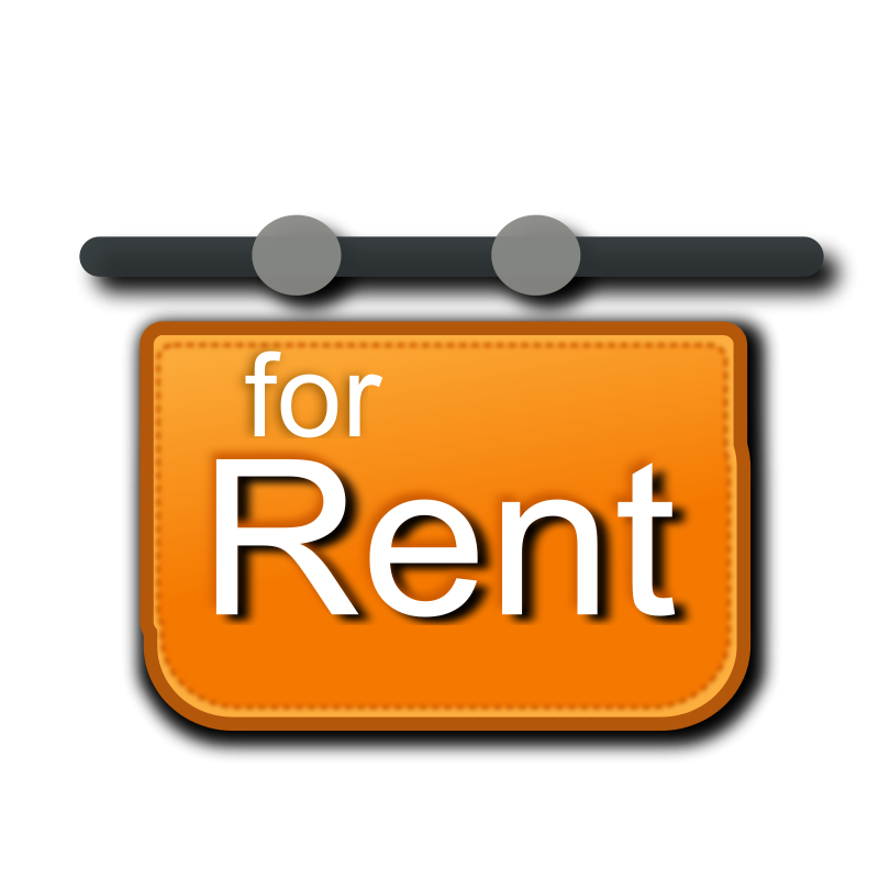 free vector For rent signage