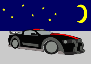 free vector Ford Mustang Gt 500 clip art