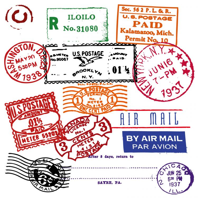free vector Foreign stamp postmark vector