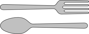 free vector Fork And Spoon Silverware clip art