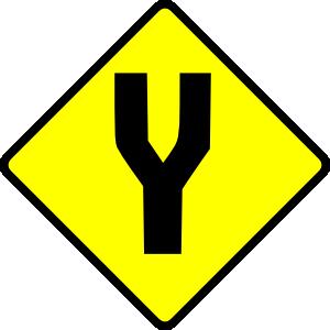 free vector Fork In Road clip art