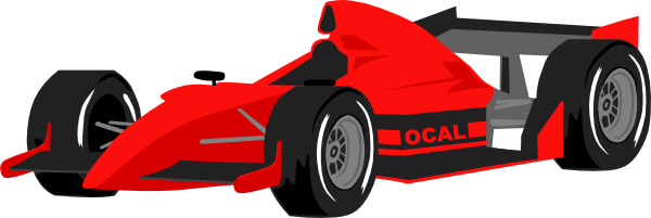 free vector Formula One Car clip art
