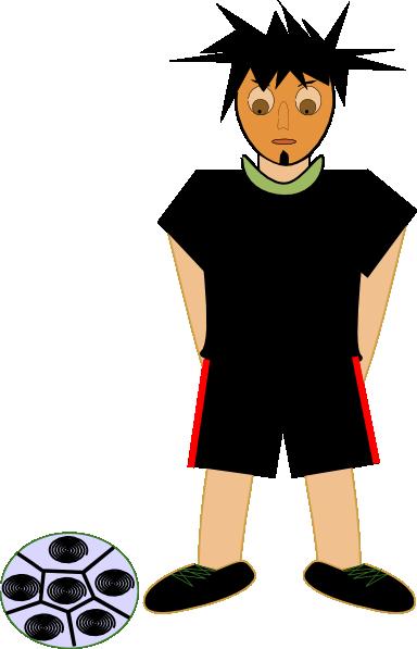 free vector Fotbalista clip art