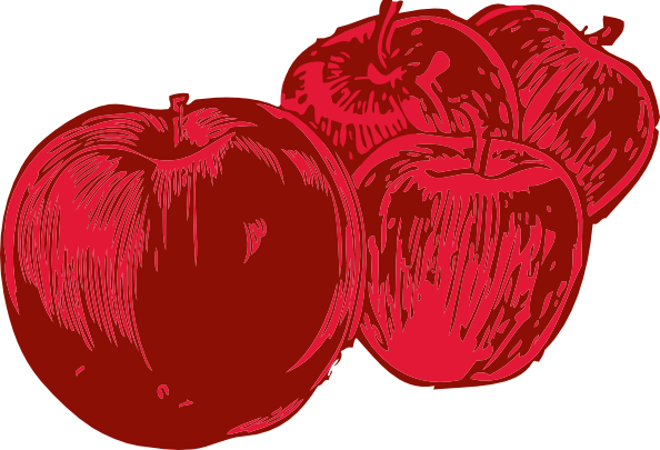 free vector Four Apples clip art