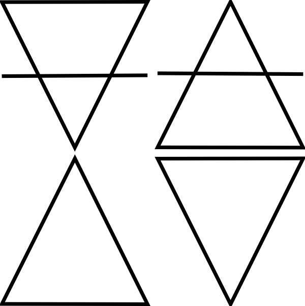 free vector Four Geometric Triangle Symbols clip art