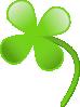 free vector Four Leaves Clover clip art