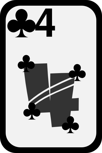 free vector Four Of Clubs clip art
