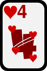 free vector Four Of Hearts clip art