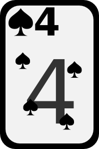 free vector Four Of Spades clip art