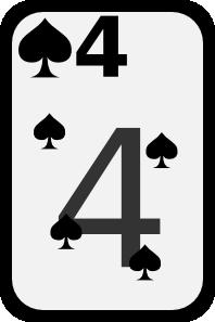 free vector Four Of Spades clip art