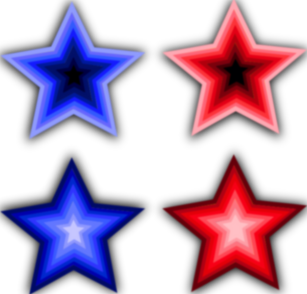 free vector Four Stars clip art
