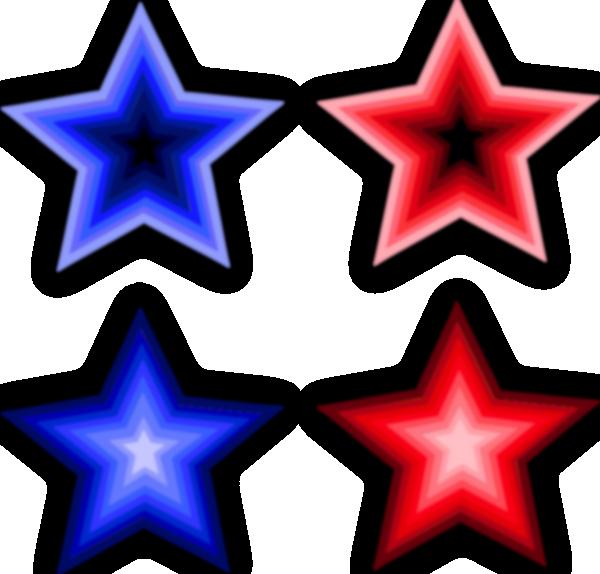 free vector Four Stars clip art