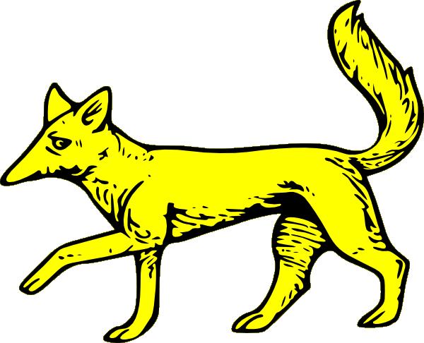 free vector Fox Passant clip art