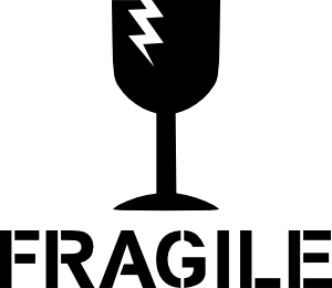 free vector Fragile Sign clip art