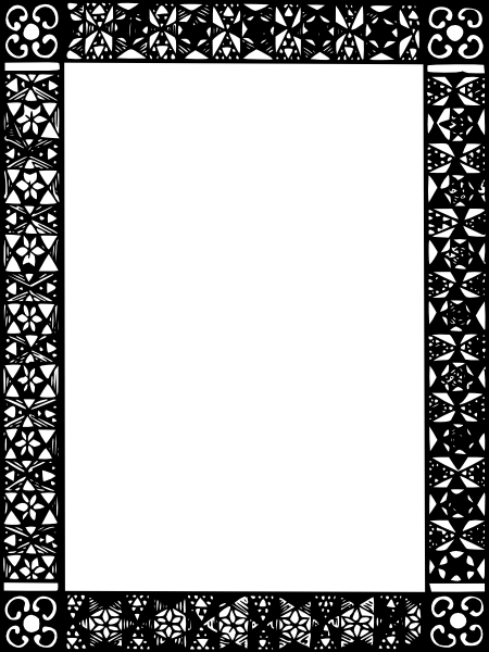 free vector Frame Mono Colored clip art