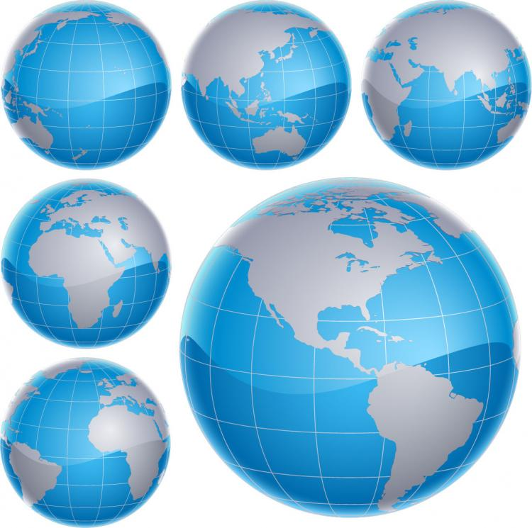 Free 3D Vector Globes Free Vector / 4Vector