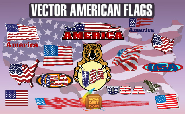 free vector Free American Flags