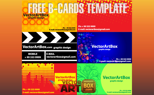 free vector Free B-cards Template