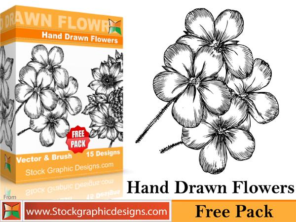 free vector Free beautiful vector flowers pack. In pack 15 flower designs in eps format