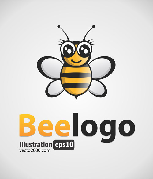 free vector Free Bee Logo Black-Gold